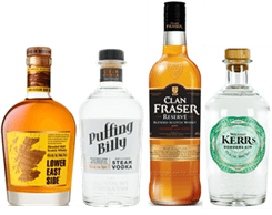 Four Borders Distillery products in a row